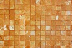 brun textur tiles väggen Royaltyfri Foto