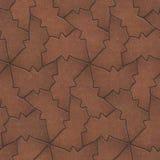 Brun trottoar i form av fjäril Arkivfoto