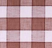 brun tyglinnewhite Arkivfoto