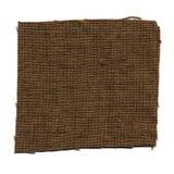 brun tygprovkartaprövkopia Royaltyfri Fotografi