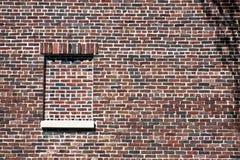 brun vägg för tegelsten Fotografering för Bildbyråer