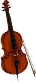 Brun violoncell Royaltyfri Foto