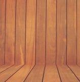 Brun wood bakgrund för plankaväggtextur Arkivbild