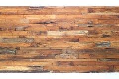 Brun wood plankabakgrund Arkivfoto