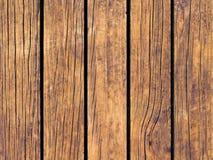 Brun wood textur med vertikala linjer Värme brun träbakgrund för naturligt baner Royaltyfri Fotografi