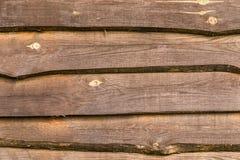 Brun wood textur, staket stiger ombord, bakgrund Arkivbilder