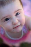 bruna ögon som ser upp Royaltyfri Foto