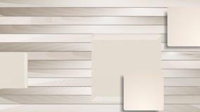 Bruna abstrakt begreppfyrkanter på träbakgrundsanimering