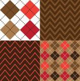 Bruna Argyle Seamless Designs Arkivbilder