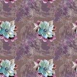 bruna blommor för bakgrund Arkivbild