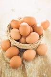 Bruna fega ägg arkivfoto