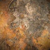 Bruna gammala rostar belägger med metall pläterar bakgrund Royaltyfri Fotografi
