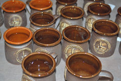 Bruna kaffekoppar Royaltyfri Bild