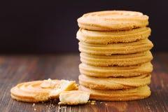 bruna kakor för bakgrund Royaltyfri Fotografi