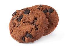 Bruna kakor på vit Royaltyfria Foton