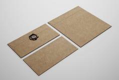 bruna kuvert Fotografering för Bildbyråer
