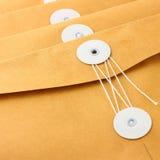 Bruna kuvert för affärsbruk Royaltyfria Bilder