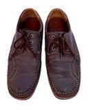 Bruna lädermanar skor Arkivfoton