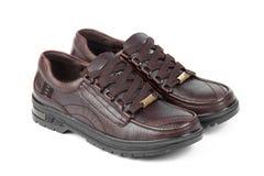 bruna läderskor arkivfoton