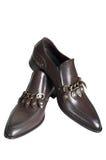 bruna låga skor Royaltyfria Foton