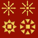bruna markörer för bakgrund Royaltyfri Bild