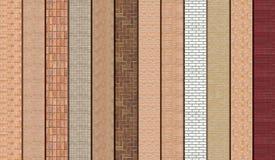 Bruna murverkprövkopior Fotografering för Bildbyråer