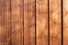 Bruna plankor, målad wood fläck Royaltyfria Foton