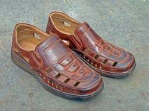 bruna sandals Royaltyfria Foton