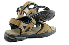 bruna sandals Royaltyfri Bild