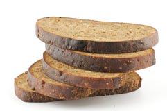 bruna skivor för bröd Fotografering för Bildbyråer