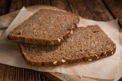 bruna skivor för bröd Royaltyfria Foton