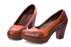 bruna skor Arkivbild