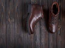 Bruna skor för man` s Royaltyfri Fotografi