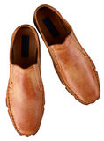 bruna skor för man s Royaltyfri Bild