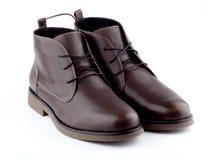 bruna skor för man s Fotografering för Bildbyråer