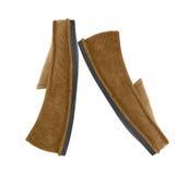 bruna skor för man s Arkivfoton
