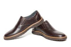 Bruna skor för man` s Royaltyfria Foton