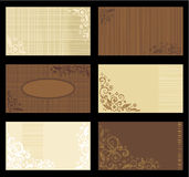 bruna solbrända mallar för affärskort Fotografering för Bildbyråer