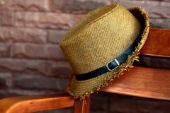 Bruna Straw Hat Royaltyfri Fotografi