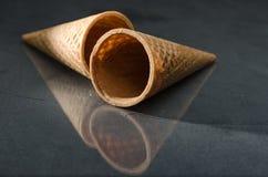 Bruna Sugar Cone isolerade Fotografering för Bildbyråer
