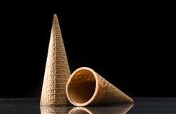 Bruna Sugar Cone isolerade Arkivfoton