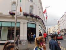 Bruna Thomas Corner Store Arkivbilder