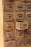 Bruna träretro enheter Arkivbilder