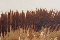 Bruna vattenfärgtexturer royaltyfri foto