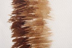 Bruna vattenfärgtexturer royaltyfri fotografi