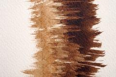 Bruna vattenfärgtexturer arkivfoto