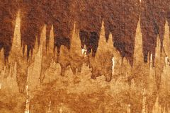 Bruna vattenfärgtexturer arkivbilder