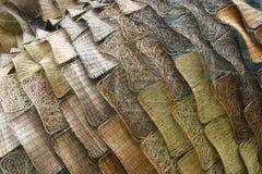 Bruna vide- wood paneler Arkivbild