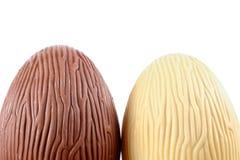 bruna vita chokladeaster ägg Royaltyfri Bild