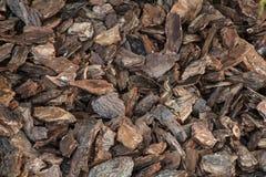 Bruna wood chiper för bakgrund Arkivbilder